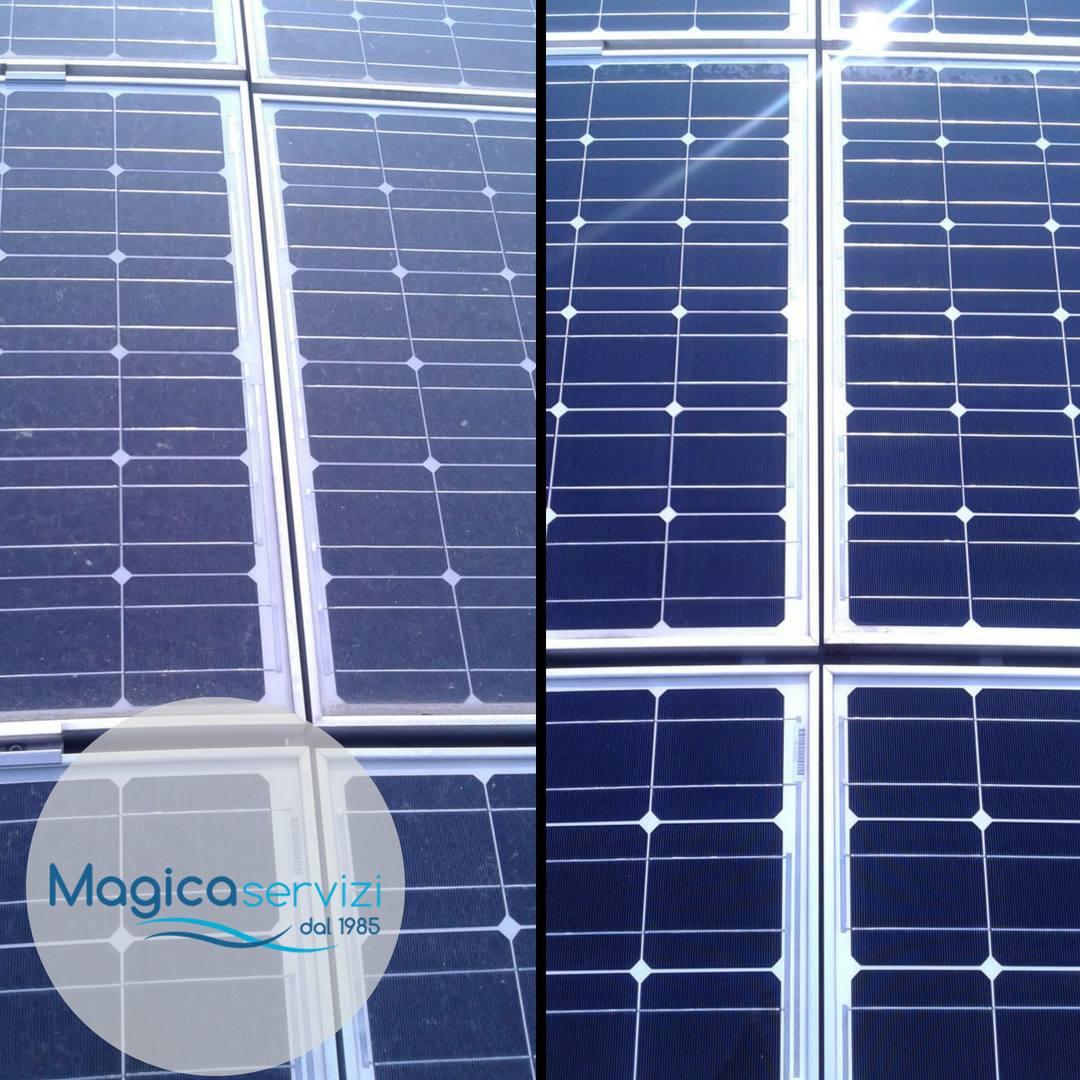 pulizia fotovoltaico magica servizi
